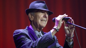 Mandatory Credit: Photo by David Rowland/REX/Shutterstock (3439301b) Leonard Cohen Leonard Cohen in concert, Vector Arena, Auckland, New Zealand - 21 Dec 2013 Music legend Leonard Cohen, live in his final concert of his current tour